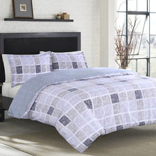 Nawa Reversible Cotton Sateen Quilt Cover Set