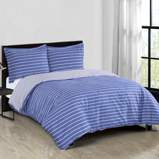 Carlo Reversible Cotton Sateen Quilt Cover Set