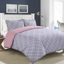 Jordan Reversible Cotton Sateen Quilt Cover Set