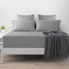 Platinum Plain Dyed 500TC Cotton Fitted Sheet
