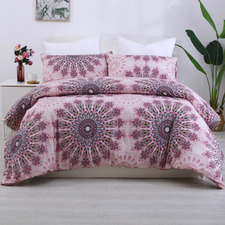 Desert Flower Printed Quilt Cover Set