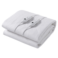 White Quilted Cotton Electric Blanket