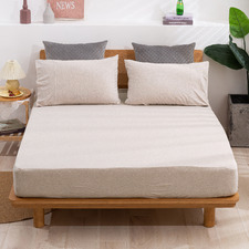 Solid Cotton Jersey Fitted Sheet
