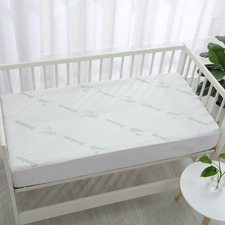 Bamboo-Blend Knitted Waterproof Cot Mattress Protector