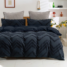Charcoal Molly 300TC Cotton Quilt Cover Set