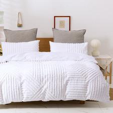 White Evie 300TC Cotton Quilt Cover Set
