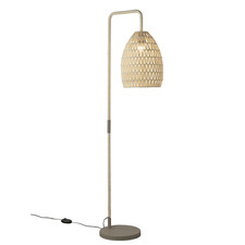 Natural Ava Woven Rope Floor Lamp