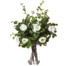 Luxe Faux Magnolia Mix & Audrey Vase