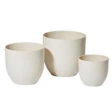 3 Piece Zoe Stone Planter Set