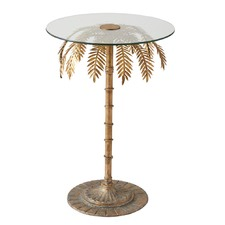 Brass Palm Tree Side Tables