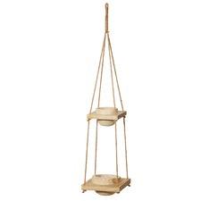 Dansk Wooden Hanging Planters