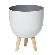 White Dylan Planters (Set of 2)