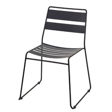 Slatted Metal Outdoor Dining Chairs (Set of 2)