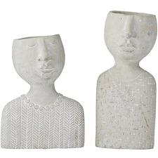 2 Piece Emilie & Emile Cement Decor Set (Set of 2)