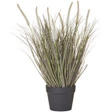 Faux Fountain Grass Plants in Garden Pot