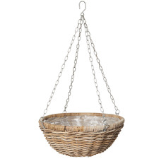 Natural Rattan Hanging Planters (Set of 2)