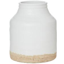 White Artisan Ceramic Vases (Set of 2)