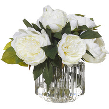 Faux Peony Plants with Carletta Vase (Set of 2)