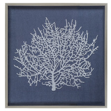 Blue Coral Framed Wall Accent