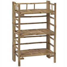 Maya Bamboo Foldable 3 Tier Storage Shelf
