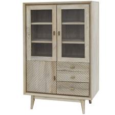 Alyanna Mango Wood Display Cabinet