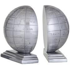Aro Globe Aluminium Bookends (Set of 2)