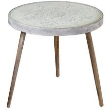 Vanya Wood & Glass Side Table