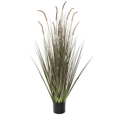 120cm Potted Faux Reed Grass (Set of 4)