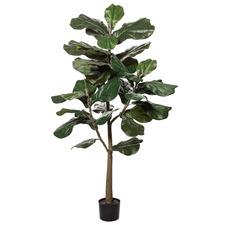 152cm Potted Faux Dark Green Fiddle Leaf Tree