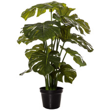 Potted Faux Monstera Plant