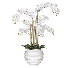 95cm Potted Faux Butterfly Orchid Plant