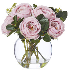 31cm Potted Faux Columbian Rose Plant