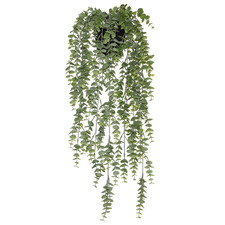 60cm Hanging Potted Faux Silver Leaf Plant