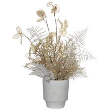 57cm Potted Faux Mix Silver Dollar Fern Plant