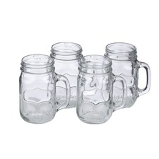 Set of 4 Retro Jar Tumblers (Set of 8)