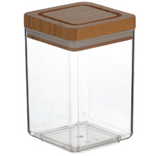 1.4L Glass & Bamboo Canisters with Lids (Set of 6)