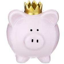 Pink Percy Pig Ceramic Money Box