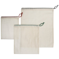 3 Piece Natural Cotton Produce Bag Set