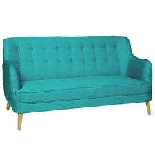 Sky Blue Loco Button Back Sofa