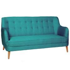 Blue Loco Button Back Sofa