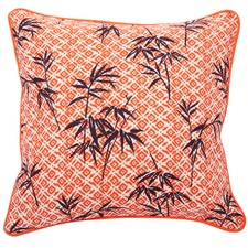 Bermuda Orange Bamboo Cushion