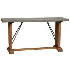 Charcoal Hudson Industrial Metal & Fir Wood Hall Table