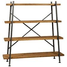 Hudson Industrial Metal & Fir Wood Shelf