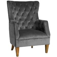 Lotus Velvet Armchair