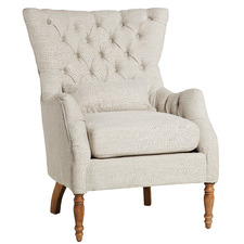 Lotus Buttoned Upholstered Armchair