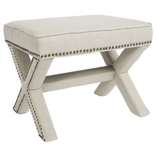 Haven Linen Foot Stool