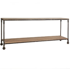 Industrial Brooklyn Mango Wood Console Table