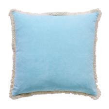Fringed Sky Bloomsbury Velvet Cushion