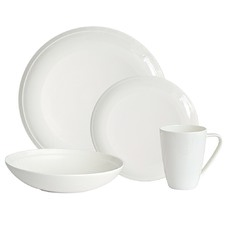 16 Piece Salt & Pepper Edge Dinner Set