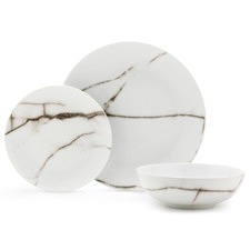 S&P Marble Effect 12 Piece Dinner Set